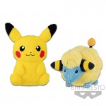 POKEMON SUN & MOON BIG PLUSH -PIKACHU・MAREEP- BBC